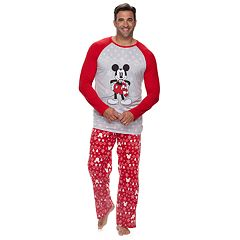 Disney's Mickey Mouse Big & Tall Mickey Top & Fairisle Microfleece Bottoms Pajamas Set by Jammies For Your Families
