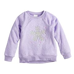 Baby Girl Jumping Beans® Embroidered Plush Pullover