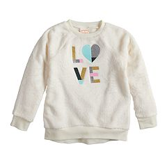 Toddler Girl Jumping Beans® Plush Graphic Pullover Sweater