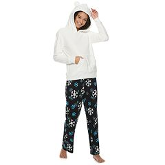 Juniors' SO® Sherpa Bear Hoodie & Pants Pajama Set