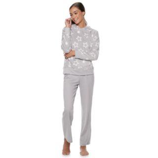 Juniors' SO® Plush Hoodie & Pants Pajama Set