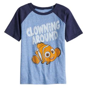 "Disney / Pixar Finding Nemo Boys 4-10 ""Clowning Around"" Raglan Graphic Tee by Jumping Beans®"