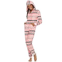 Juniors' SO® Printed Plush One-Piece Pajamas