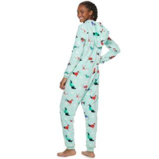 Juniors' SO® Patch One-Piece Pajamas