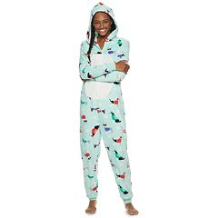 Juniors' SO® Patch One-Piece Pajamas