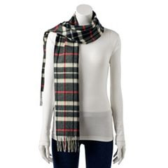 Women's Softer Than Cashmere Traditional Plaid Oblong Scarf