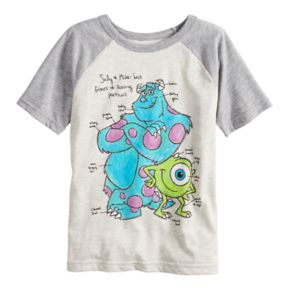 Disney/Pixar Monsters Inc. Boys 4-10 Sully & Mike Raglan Graphic Tee by Jumping Beans®