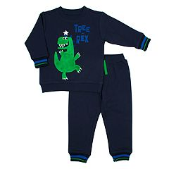 Toddler Boy Little Rebels T-Rex Dinosaur Sweatshirt & Jogger Pants Set