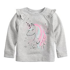 Toddler Girl Jumping Beans® Unicorn Softest Fleece Sweatshirt
