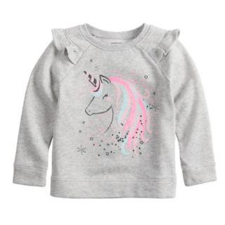 Toddler Girl Jumping Beans® Unicorn Softest Fleece Sweatshirt