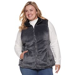 Plus Size Weathercast Reversible Cozy Fleece Vest