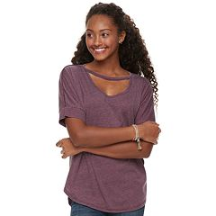 Juniors' Grayson Threads Cutout Tee