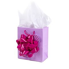 Hallmark 'Giant Bow' Small Gift Bag with Tissue Paper