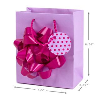 "Hallmark ""Giant Bow"" Small Gift Bag with Tissue Paper"