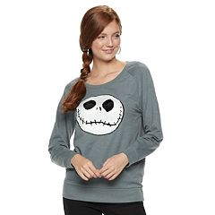 Juniors' The Nightmare Before Christmas Flip-Sequin Jack Graphic Top