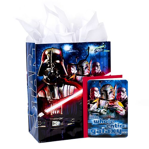 Hallmark Star Wars Classic Large Birthday Gift Bag With Card Tissue Paper