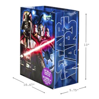 """Hallmark """"Star Wars Classic"""" Large Birthday Gift Bag with Card & Tissue Paper"""