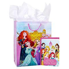 Hallmark 'Disney Princess' Large Birthday Gift Bag with Card & Tissue Paper