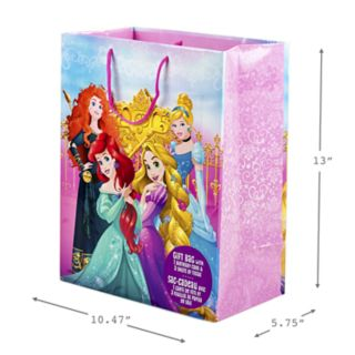 "Hallmark ""Disney Princess"" Large Birthday Gift Bag with Card & Tissue Paper"