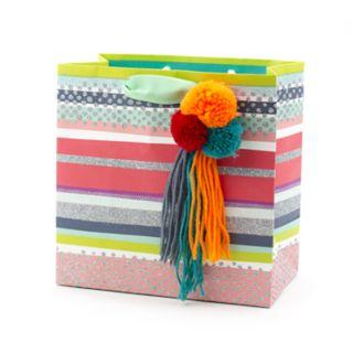 "Hallmark Signature ""Pom Pom Tassel"" Medium Gift Bag"