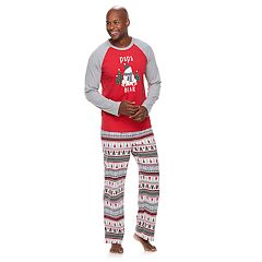 Men's Jammies For Your Families Polar Bear Fairisle Family Pajamas 'Papa Bear' Top & Bottoms Set by Cuddl Duds