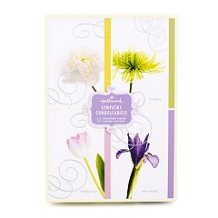 Hallmark 12-Count Assorted 'Flowers' Sympathy Greeting Cards