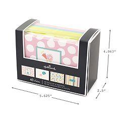Hallmark 40-Count 'Stripes, Floral, Polka Dots, Bird' Assorted Notecards