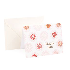 "Hallmark 50-Count ""Pink Flowers"" Thank You Note Set"