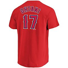 Men's Majestic Los Angeles Angels of Anaheim Shohei Ohtani Name and Number Tee