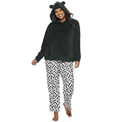 Plus Size SO® Sherpa Bear Hoodie & Pants Pajama Set