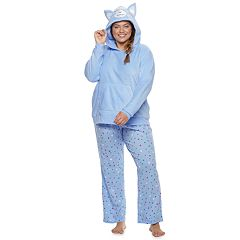 Plus Size SO® Sherpa Llama Hoodie & Pants Pajama Set