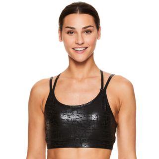 Gaiam Liv Yoga Strappy Back Medium-Impact Sports Bra GAW184BRLV