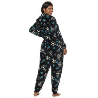 Plus Size SO® Printed Plush One-Piece Pajamas