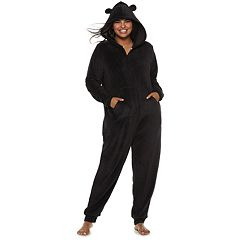 Plus Size SO® Sherpa Bear One-Piece Pajamas