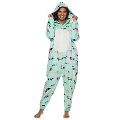 Plus Size SO® Patch One-Piece Pajamas