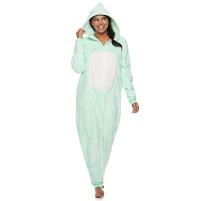 Plus Size SO® Patch One-Piece Pajamas