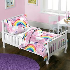 Toddler Dream Factory Unicorn Rainbow 2-piece Comforter Set