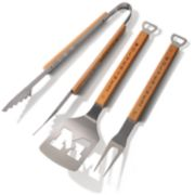 Michigan Wolverines Classic Series 3-Piece Grill Tongs, Spatula & Fork BBQ Set