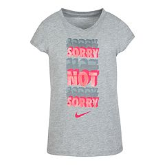 Girls 4-6x Nike 'Sorry Not Sorry' Glittery Graphic Tee