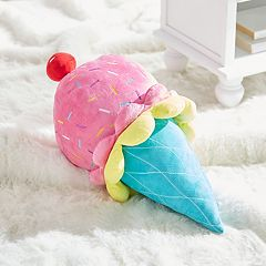 Dream Factory Ice Cream Shaped Throw Pillow