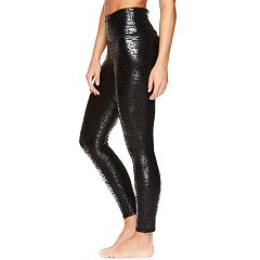 Women's Gaiam Shiny Print Yoga High-Waisted Ankle Leggings