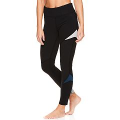 Women's Gaiam Colorblock Midrise Yoga Ankle Leggings