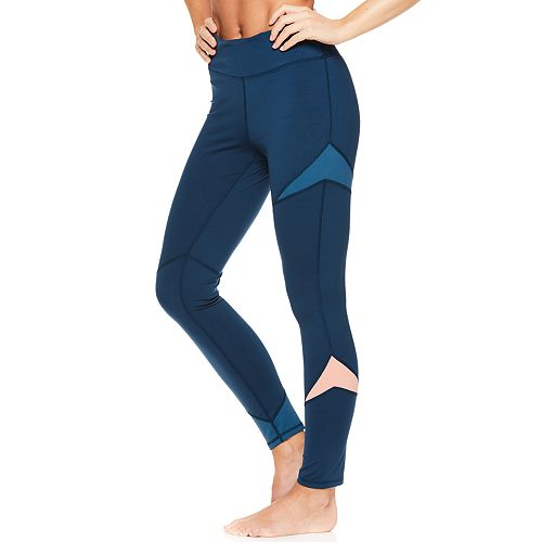 Women's Gaiam Colorblock Midrise Yoga Ankle Leggings