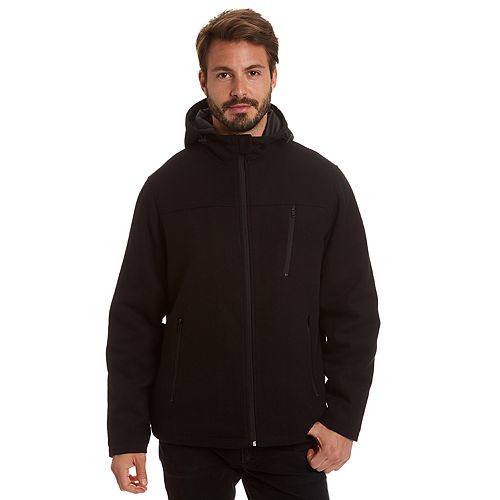Men's Excelled Comfort Stretch Wool-Blend Hooded Jacket