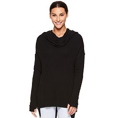 Women's Gaiam Relax Cowlneck Long Sleeve Yoga Top