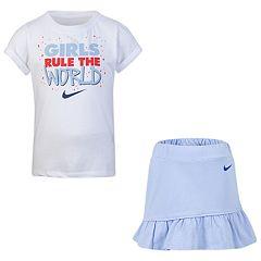 Girls 4-6x Nike 'Girls Rule The World' Tee & Skort Set