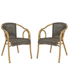 Safavieh Dagny Indoor / Outdoor Stacking Arm Chair 2-piece Set