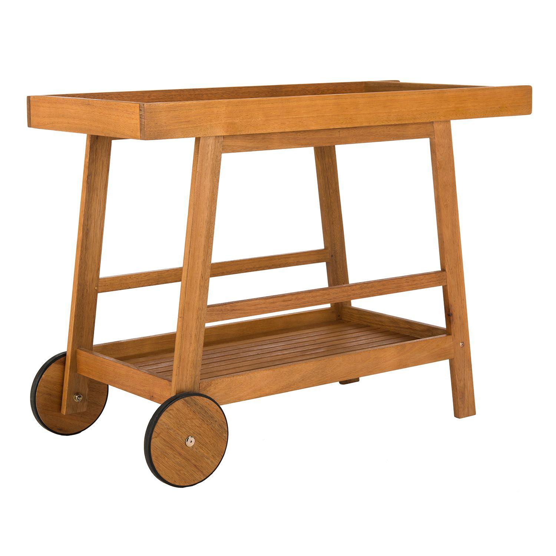 Safavieh Renzo Indoor / Outdoor Wood Bar Cart