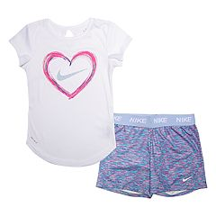 Girls' 4-6x Nike 2-piece Dri-FIT Heart Top & Shorts Set