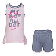 Girls 4-6x Nike 'My Way All Day' Glittery Graphic Tank Top & Shorts Set
